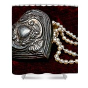 Pearls From The Heart Shower Curtain
