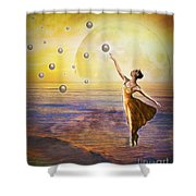 Pearls Of Heaven Shower Curtain