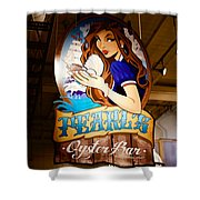 Pearls Oyster Bar Shower Curtain