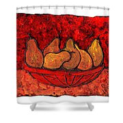 Pears On Fire Shower Curtain