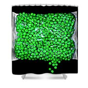 Peas Please Shower Curtain