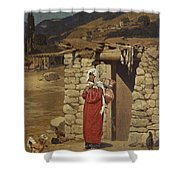 Peasant Carrying Water Shower Curtain