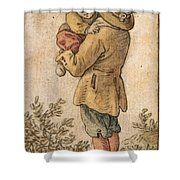 Peasant With Child Shower Curtain