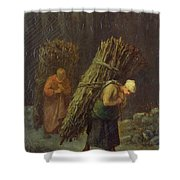 Peasant Women With Brushwood Shower Curtain