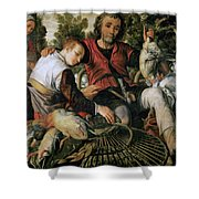 Peasants At The Market Shower Curtain