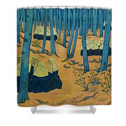 Peasants Gathered In A Sacred Wood_ Shower Curtain