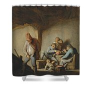 Peasants In The Interior Of An Inn Shower Curtain