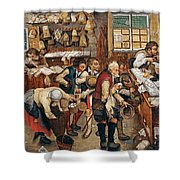Peasants Paying Tithes By Pieter Bruegel I Shower Curtain