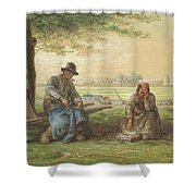 Peasants Resting Shower Curtain