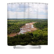 Pease On The River Shower Curtain