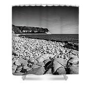 Pebble Beach At Flamborough. Shower Curtain
