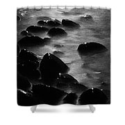 Pebble Beach By Moonlight Shower Curtain
