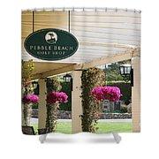 Pebble Beach Golf Shop  Shower Curtain