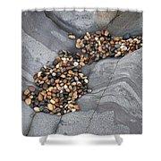 Pebble Beach Rocks 8787 Shower Curtain