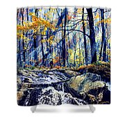 Pebble Creek Autumn Shower Curtain
