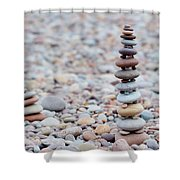 Pebble Stack II Shower Curtain