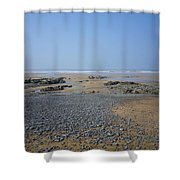 Pebble Strewn Beach Shower Curtain