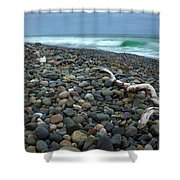 Pebbled Shore Shower Curtain