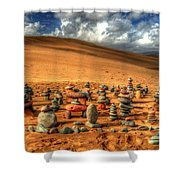 Pebblehenge Shower Curtain by Rob Hawkins