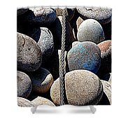 Pebbles And Cable Shower Curtain