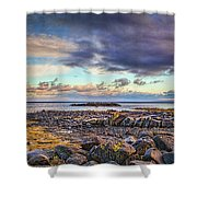 Pebbles And Sky  #h4 Shower Curtain by Leif Sohlman