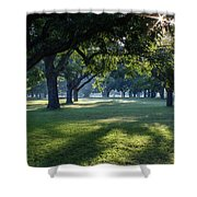Pecan Grove Sunrise Shower Curtain