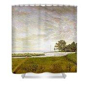 Peconic Sunrise Shower Curtain