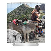 Peddler Of The Mountains Shower Curtain