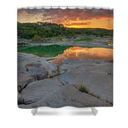 Pedernales River Sunrise, Texas Hill Country 8257 Shower Curtain