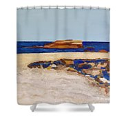 Pedersen Beach Lake Superior Shower Curtain