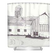 Pedersen Family Barn Shower Curtain