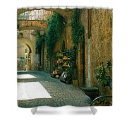 Pedestrian Walkway, Orvieto, Umbria Shower Curtain