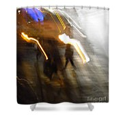 Pedestrians 4  6th Ave Series  Abstract Shower Curtain