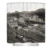Pedro Miguel Locks, Panama Canal, 1910 Shower Curtain