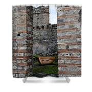 Peek Into The Past - Pompeii Shower Curtain