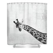 Peekaboo Giraffe Shower Curtain