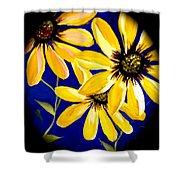 Peekaboo Sunflowers Shower Curtain
