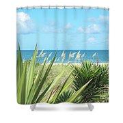 Peeking Sea Shower Curtain