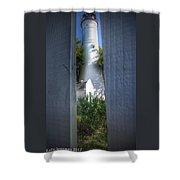 Peeking Thru Shower Curtain