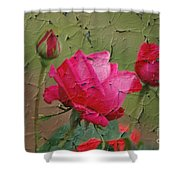 Peeling Rose Shower Curtain