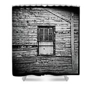 Peeling Wall And Cool Window At Fort Delaware On Film Shower Curtain