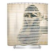Peeping Alex Shower Curtain