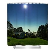 Pegasus And Moon Over The Shenandoah Valley Shower Curtain