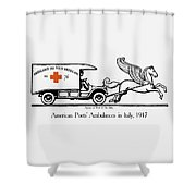 Pegasus At Work For The Allies Shower Curtain