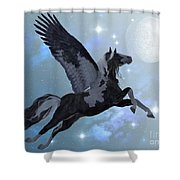 Pegasus Flight Shower Curtain