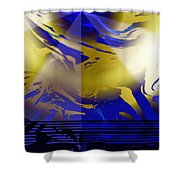 Pegasus From Above Shower Curtain