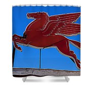 Pegasus Oil Sign Shower Curtain