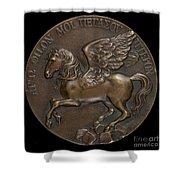 Pegasus Soaring Above Parnassus [reverse] Shower Curtain
