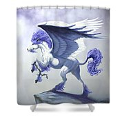 Pegasus Unchained Shower Curtain