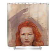 Peggy Is Fire Shower Curtain
